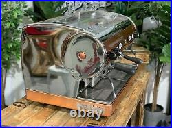 San Marino Lisa 2 Group Brass Stainless Espresso Coffee Machine Commercial Cafe