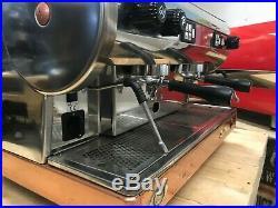 San Marino Lisa 2 Group Silver Brass Base Espresso Coffee Machine Commercial Bar