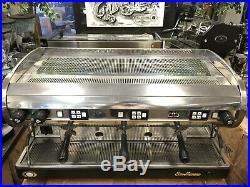 San Marino Lisa 3 Group Stainless With Black Base Espresso Coffee Machine Cafe