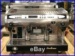 San Marino Lisa R 2 Group High Cup Espresso Coffee Machine Commercial Cafe Bar