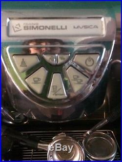 Simonelli Musica Lux Volumetric Coffee Espresso Cappuccino Machine MMUSICALUX01