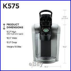 Single Serve Coffee Maker Espresso Machine Keurig KCup Programmable 12oz Brewer