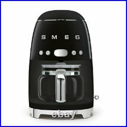Smeg DCF02BLUK Black 50s Retro Style Filter Coffee Machine + 2 Year Warranty