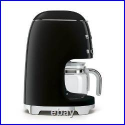 Smeg DCF02BLUK Drip Filter Coffee Machine in Black Brand new