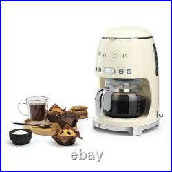 Smeg DCF02CRUK Drip Filter Coffee Machine in Cream Brand new