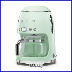 Smeg DCF02PGUK Pastel Green 50s Retro Filter Coffee Machine + 2 Year Warranty