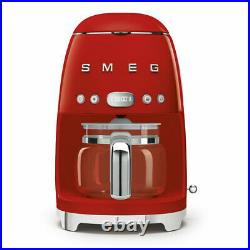 Smeg DCF02RDUK Red 50s Retro Style Filter Coffee Machine + 2 Year Warranty (New)