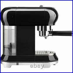 Smeg ECF01BLUK 50's Retro Espresso Coffee Machine 15 bar Black New from AO