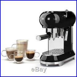 Smeg ECF01BLUK 50's Retro Style Espresso Coffee Machine Black 2 Year Guarantee