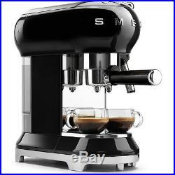 Smeg ECF01BLUK Black Espresso Coffee Machine + 2 Year Warranty (Brand New)