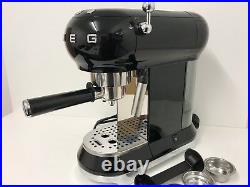 Smeg ECF01BLUK Espresso Coffee Machine 50's Retro in Black-Customer Return- Used