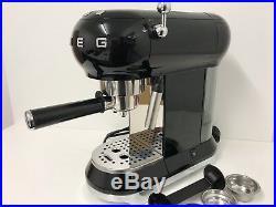 Smeg ECF01BLUK Espresso Coffee Machine 50's Retro in Black-Return-Dent-Scoop