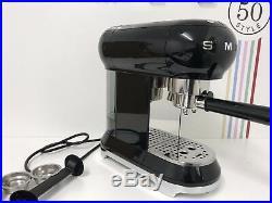 Smeg ECF01BLUK Espresso Coffee Machine 50's Retro in Black-Return-Scratch