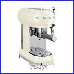 Smeg ECF01CRUK 15 Bar Coffee Machine Maker 1L Pod Ground Coffee Cream B Grade