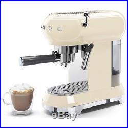 Smeg ECF01CRUK 50's Retro Style Espresso Coffee Machine Cream 2 Year Guarantee