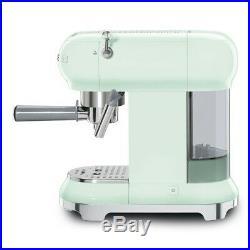 Smeg ECF01PGUK Pastel Green Espresso Coffee Machine 15 Bar + 2 Year Warranty