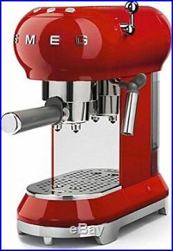 Smeg ECF01RDUS Espresso Coffee Machine, One Size, Red