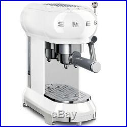 Smeg ECF01WHUK White 50's Retro Style Espresso Coffee Machine 2 Year Guarantee