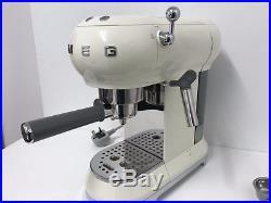 Smeg Espresso Coffee Machine 50's Retro in Cream- ECF01CRUK -Return-Warranty