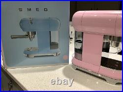 Smeg Espresso Coffee Machine in Pink RRP £320