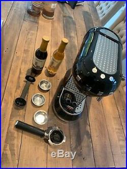 Smeg espresso coffee machine black perfect condition