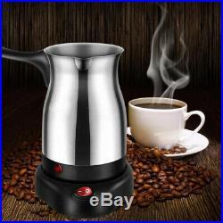 Stainless Electric Turkish Greek Coffee Maker Machine Espresso Tea Moka Pot UK