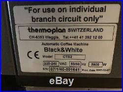 Starbucks Espresso Coffee Machine Cappuccino Thermoplan CTS2 B&W Black & White