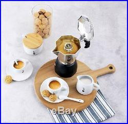 Stovetop Espresso Machine Italian Coffee Crema Maker Two 2 Cup Fast Brewer Moka