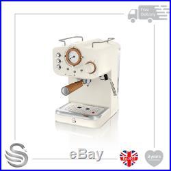 Swan Nordic Pump Espresso Coffee Machine White- SK22110WHTN Brand New
