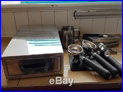 Synchro 2 Group Espresso Coffee Machine + Macap Grinder + Acessories