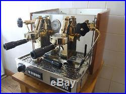 Traditional Commercial Coffee Espresso Machine Izzo Myway Gold Plated Real Wood