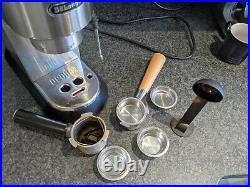 Upgraded Silver DeLonghi Dedica EC685M Coffee Espresso Machine with extras