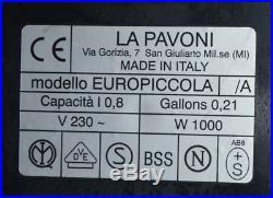 VINTAGE La Pavoni Europiccola Italian Espresso Coffee Machine