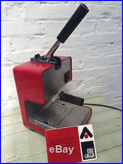 VINTAGE MINI GAGGIA COFFEE ESPRESSO MACHINE ANDRE RICARD SPAIN 1972 Very good