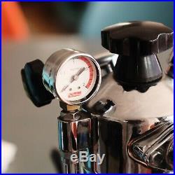 Vintage 70s La Pavoni Europiccola Espresso Coffee Lever Machine + Steaming Cup