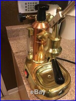 Vintage La Pavoni Italian Espresso Coffee Lever Machine Brass Not Working