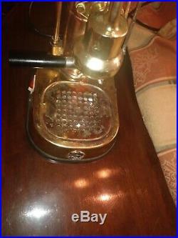 Vintage La Pavoni Italian Europiccola Espresso Coffee Lever Machine Brass Copper