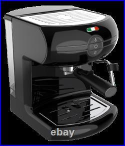 Vintage Traditional Pump Espresso Coffee Machine Manual Cappuccino Latte Black