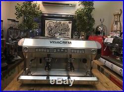 Visacrem 2 Group Espresso Machine Traditional Coffee Barista Cafe Restaurant Lat