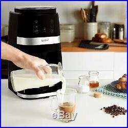VonShef Bean To Cup Filter Coffee Machine Maker Burr Grinder 1.5L 12 Cups
