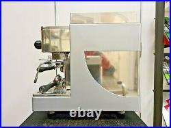 WEGA PEGASO 1 GROUP SEMI AUTO ESPRESSO COFFEE MACHINE Silver & Chrome