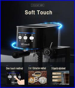 WISWELLSemi-Automatic Espresso Machine Latte Cappuccino Coffee Extractor