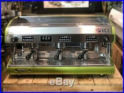 Wega Polaris 3 Group Metallic Green Espresso Coffee Machine Cafe Restaurant Bean