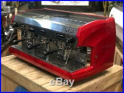 Wega Polaris 3 Group Red Espresso Coffee Machine Commercial Cafe Barista Cup
