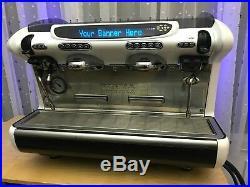 White Faema Emblema Commercial Espresso Coffee Machine