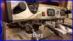 Zircon Integral 2 group Espresso Coffee Machine Automatic Grinder Boiler 11.5L